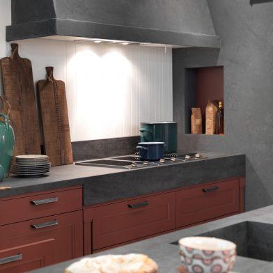 moderne Landhausküche Casa, Mattlack