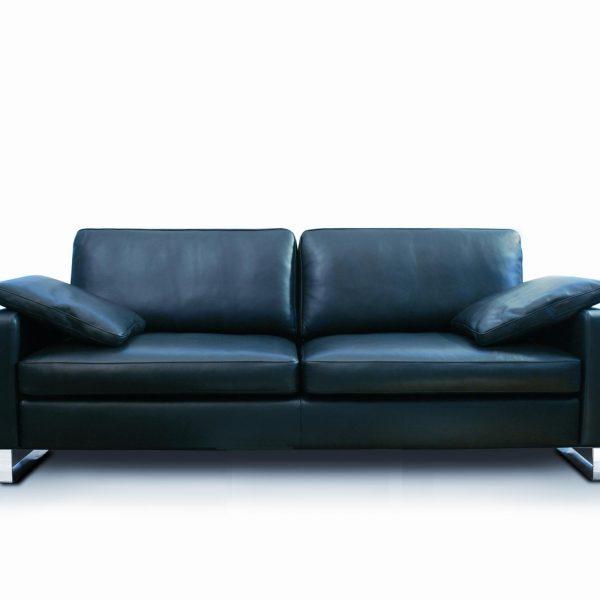 modernes Sofa Rivoli, Leder, Metallkufen