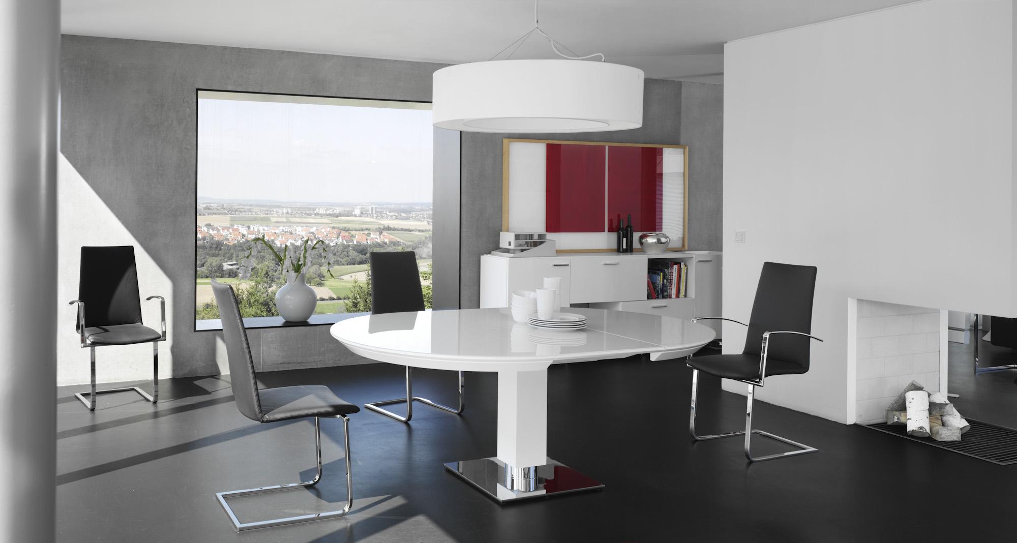 esstisch rund modern ausziehbar. Black Bedroom Furniture Sets. Home Design Ideas