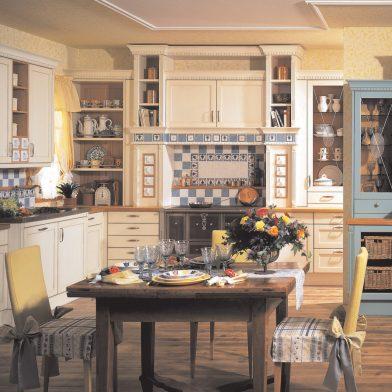 Landhausküche Cornwall, Korpus und Front massiv