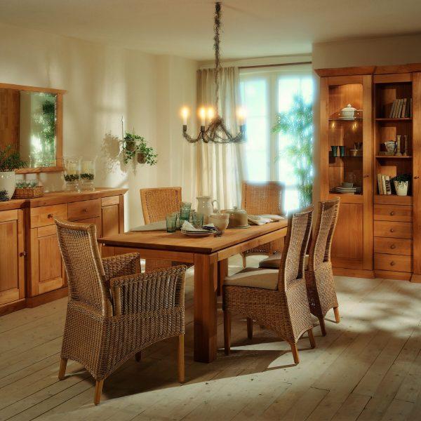 Speisezimmer Prato, Landhaus, Buche oder Eiche massiv