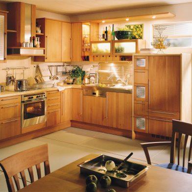 Massivholzküche Erle geölt