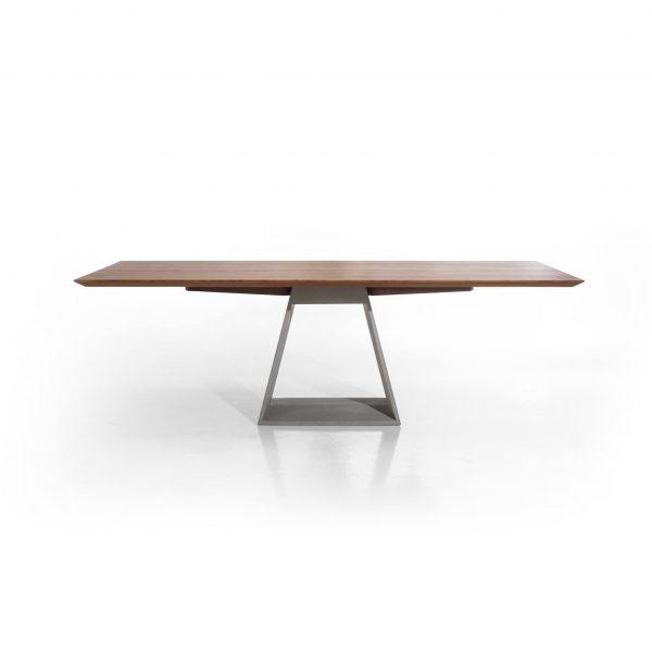 Esstisch mit Betongestell, Platte Nußbaum massiv