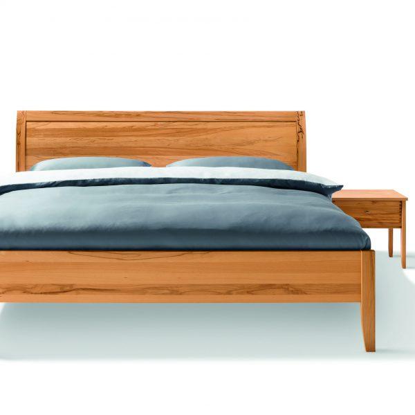 Bett Sesam, Massivholz, Kopfteil geschlossen oder mit Sprossen