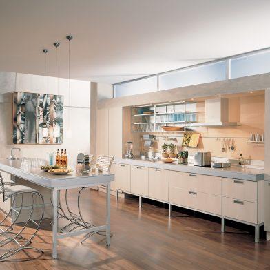 moderne Küche Cambia, Holz-Nachbildung