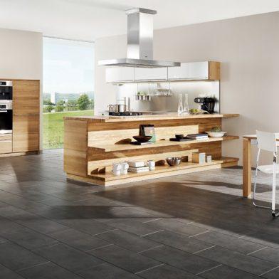 moderne Küche Team 7 Linee, Eiche massiv, geölt