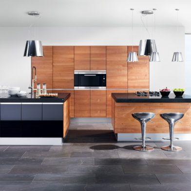 moderne Küche Team 7 Linee, Kirschbaum massiv, geölt